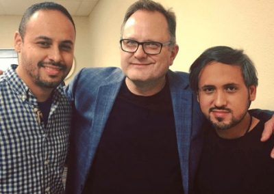 Rapirela with the multi Latin Grammy Award winner Christian singer Marcos Witt